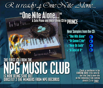 Prince - One Nite Alone... NPGMC Flyer (geocities.co.jp)