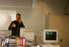 Me at work (around 2001) (apoplife.nl)