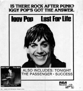 Iggy Pop - Lust For Life - Advertentie (free-zg.t-com.hr)