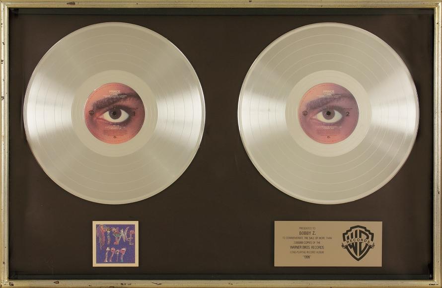 Prince - 1999 platinum award (gottahaverockandroll.com)