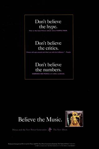 Prince - O(+> - Warner Bros advert (princevault.com)