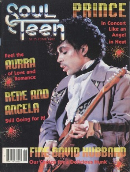 Prince on the cover of Soul Teen magazine (terapeak.com)