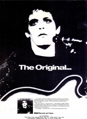 Lou Reed - Transformer - Advertentie (pinterest.com)