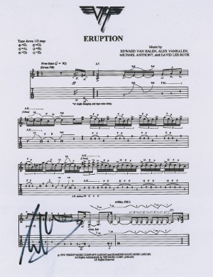 Eruption Sheet Music - Eddie Van Halen Initials (liveauctiongroup.net)