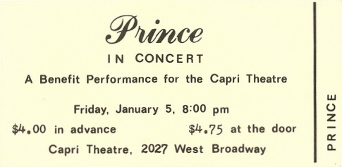 Prince - First Concert 01/05/1979 (unknown)