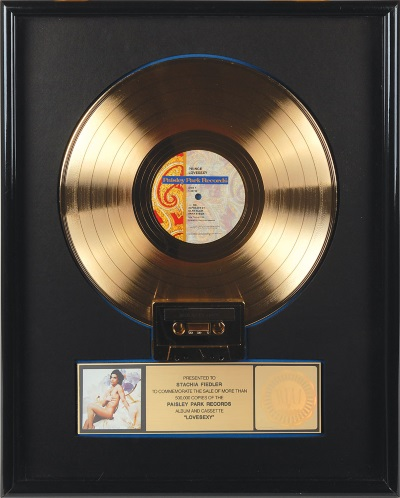 Prince - Lovesexy Gold Sales Award (rrauctions.com)