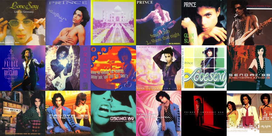 Prince - Lovesexy - Live bootlegs (apoplife.nl/discogs.com)