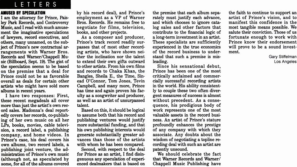 Prince - BillBoard Magazine 10/17/1992 (prince.org)