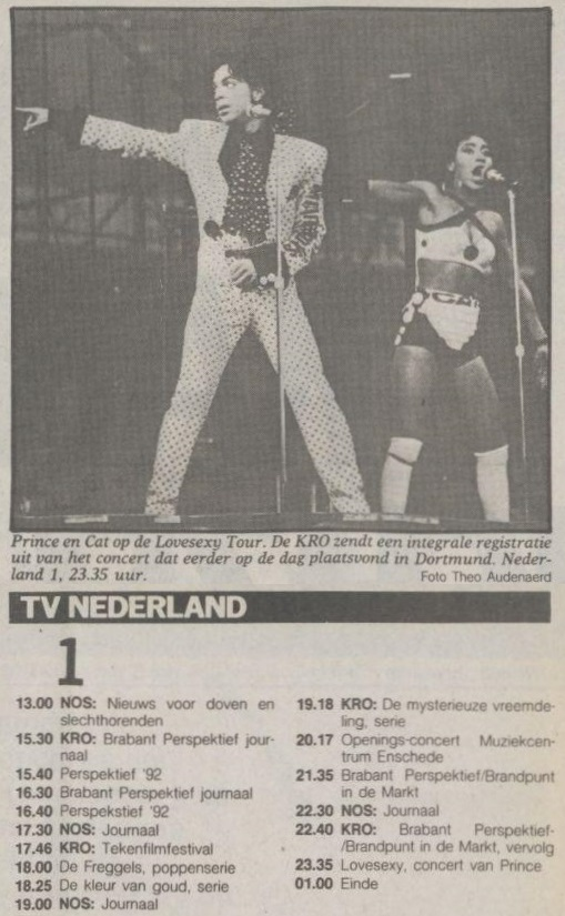 Prince - Lovesexy Tour Dortmund - Volkskrant 09-09-1988 (apoplife.nl)