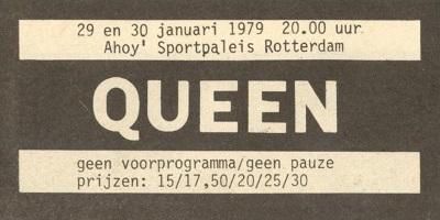 Queen - Jazz Tour - Live Killers - Ahoy Rotterdam 29 en 30 01-1979 - Reclame (queenconcerts.com)