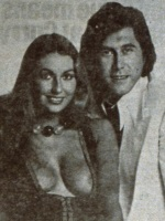 Roxy Music - Stranded - Bryan Ferry with Marilyn Cole, cover-girl for Stranded (twitter.com/eno)