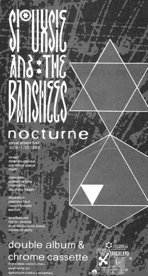 Siouxsie And The Banshees - Nocturne - Reclame (thebansheesandothercreatures.co.uk)
