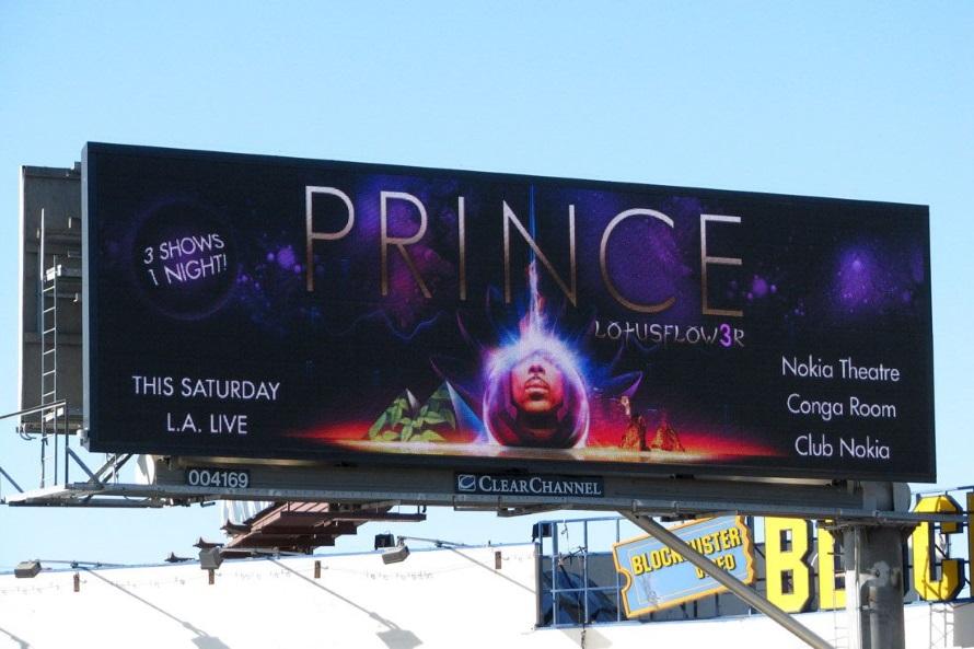 Prince - Lotusflow3r - Live billboard ad 03/28/2009 (pinterest.com)