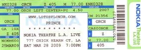 Prince - Lotusflow3r - Nokia Center Show 1 - Nokia Theatre (princevault.com)