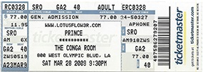 Prince - Lotusflow3r - Nokia Center Show 2 - The Conga Room (princevault.com)