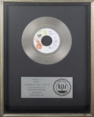 Prince - When Doves Cry - Platinum award (julienslive.com)
