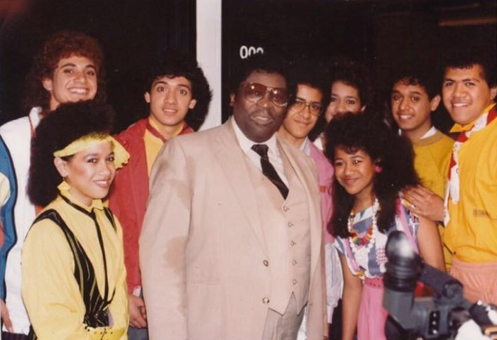 The Jets and B.B. King, the first well known artist the group opened for (Moana Wolfgramm-Feinga)