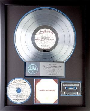 Prince - Musicology - Double platinum award (twitter.com)