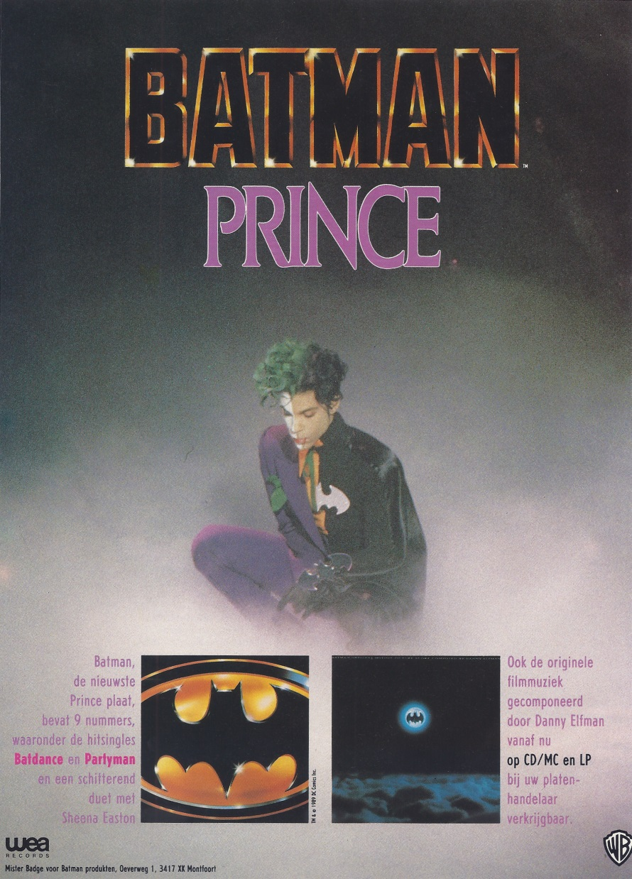 Batman - Film muziek - Reclamefolder Batman film - September 1989 (apoplife.nl)