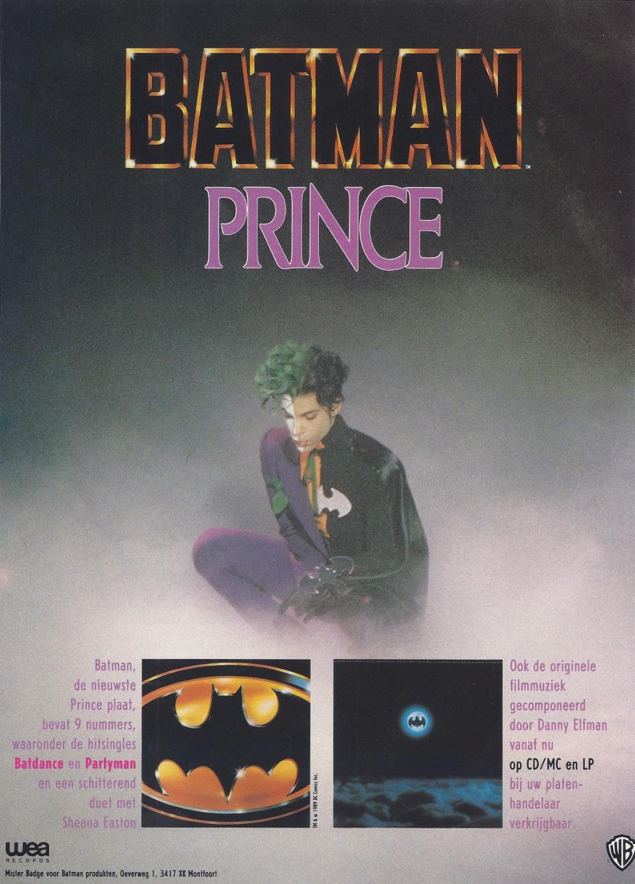 Batman - Film music - Dutch advertisement leaflet Batman movie - September 1989 (apoplife.nl)