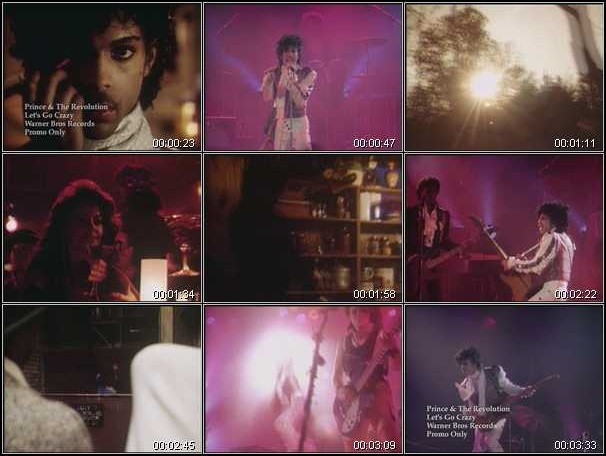 Prince And The Revolution - Let's Go Crazy - Video stills (hq-music-videos.com)