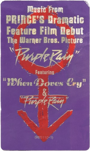 Prince And The Revolution - Purple Rain - LP Sticker (apoplife.nl)