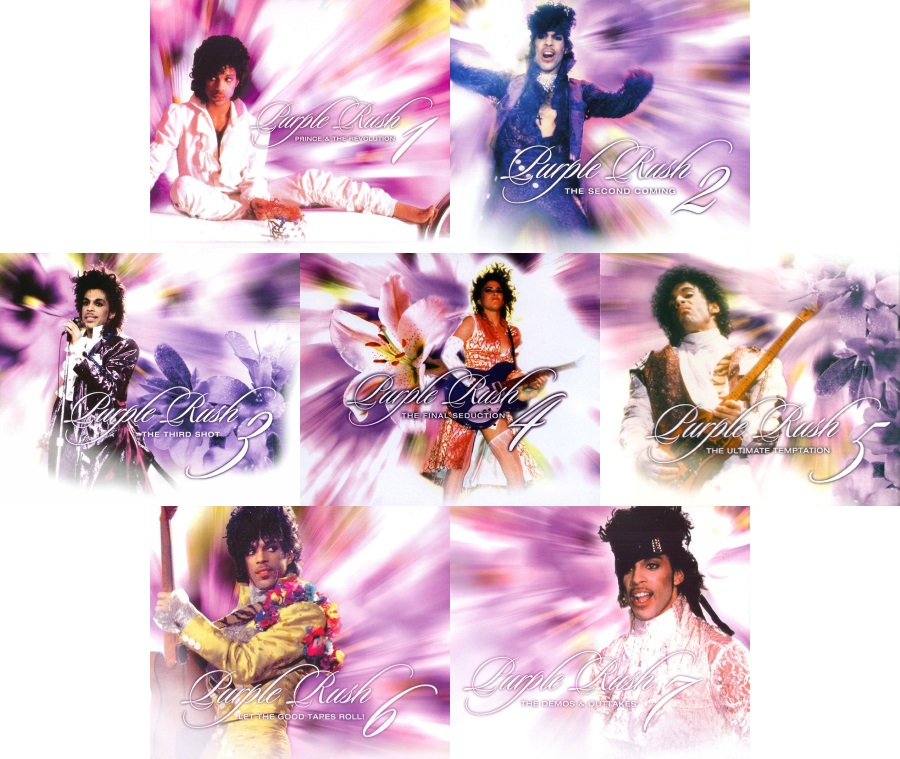 Prince And The Revolution - Purple Rush volumes 1-7, 31 discs filled with Purple Rain material (discogs.com/apoplife.nl)