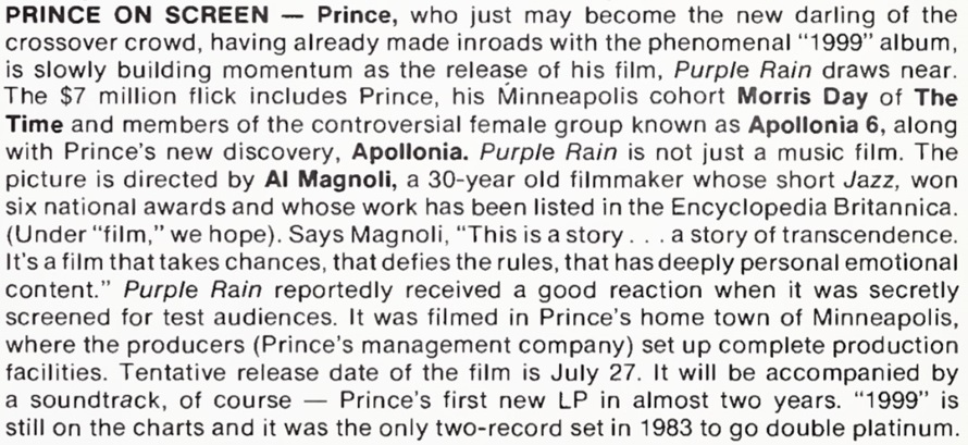 Prince - News on the upcoming album and movie (prince.org)