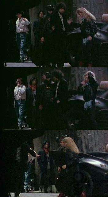 Prince meets Tim Burton on the set of Batman, 01/21/1989 (pinterest.com)