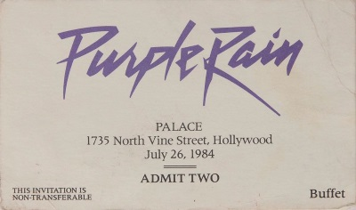 Purple Rain - Premiere invitation (icollector.com)