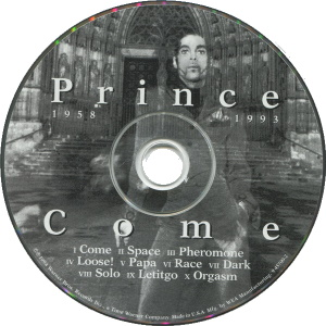 Prince - Come CD (discogs.com)