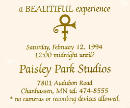Prince - The Beautiful Experience - Ticket (unused-prince-tickets.com)