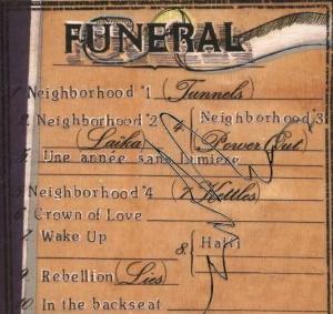Arcade Fire - Funeral - Gedeeltelijke hoes achterkant (jpc.de)