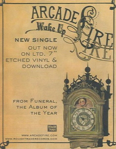 Arcade Fire - Wake Up reclame (stickitonyourwall.com)
