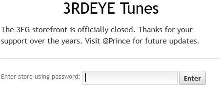 Prince - 3RDEYETUNES closed (twitter.com)
