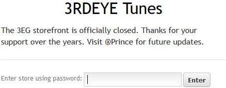 Prince - 3RDEYETUNES gesloten (twitter.com)