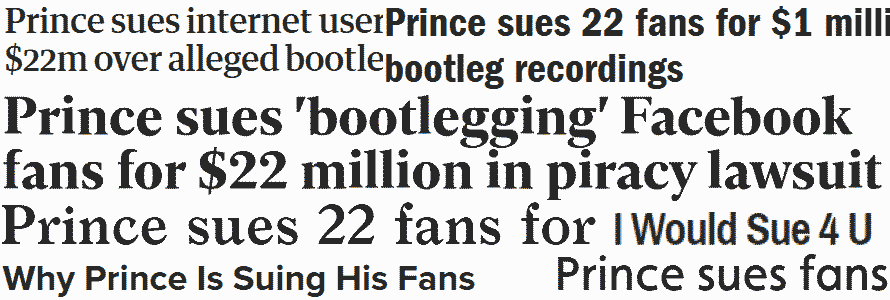 Prince - Press on the lawsuit January 2014 (apoplife.nl)