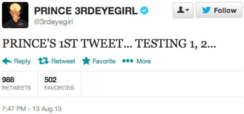 Prince op Twitter 13-08-2013 (buzzfeed.com)