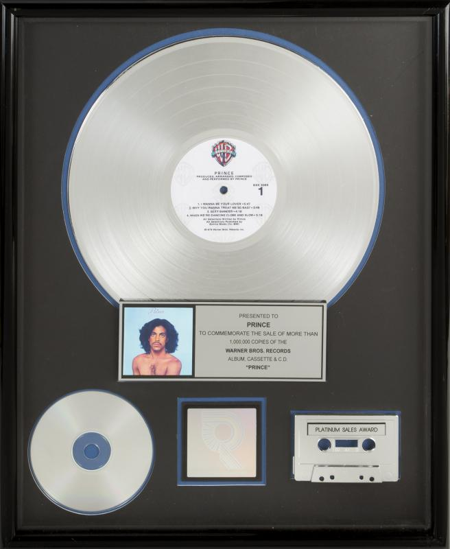 Prince - Prince - Platinum certification (julienslive.com)