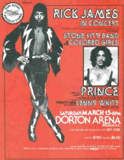 Prince - Voorprogramma Rick James affiche (theundefeated.com)