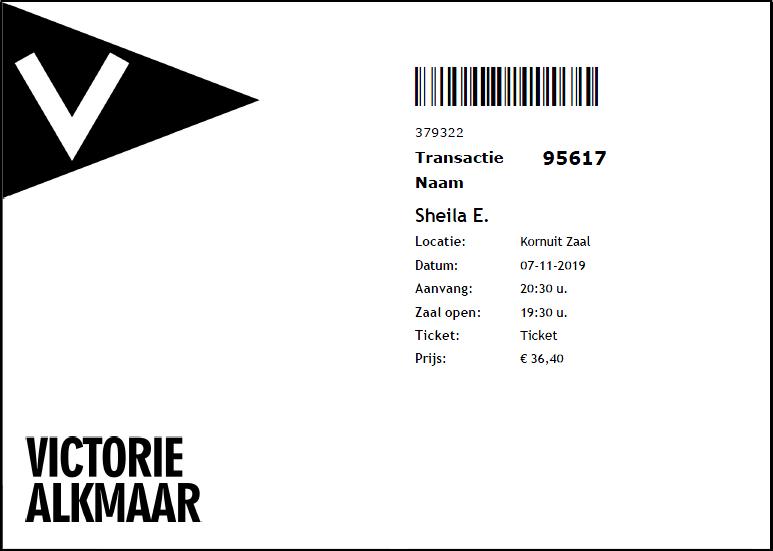 Sheila E 07-11-2019 concertkaartje (apoplife.nl)