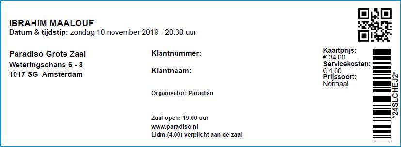 Ibrahim Maalouf 10-11-2019 concertkaartje (apoplife.nl)