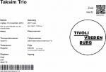 Taksim Trio 15-11-2019 concertkaartje (apoplife.nl)