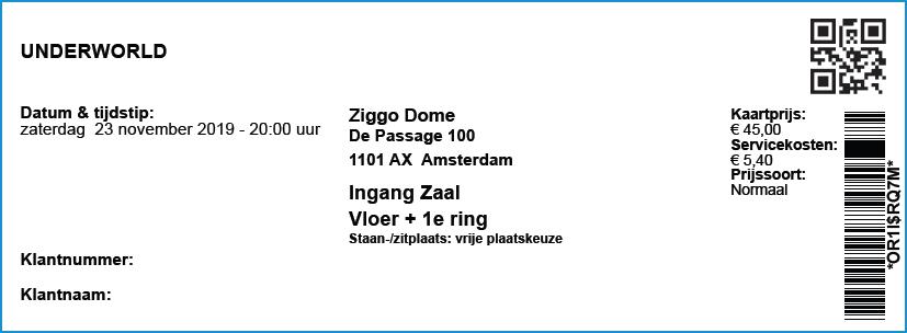 Underworld 11/23/2019 concertkaartje (apoplife.nl)