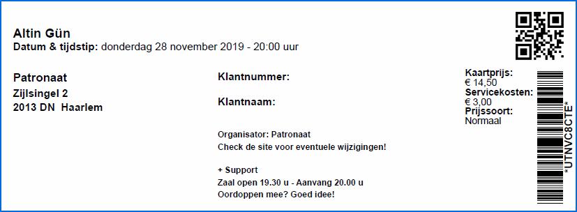 Altin Gun 28-11-2019 Concertkaartje (apoplife.nl)