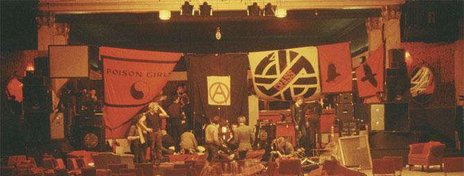 Crass - After the show at The Plaza, Eglinton Toll, Glasgow (1980) (twitter.com)