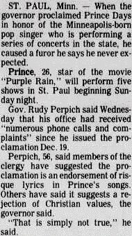 Prince - Christian protest in Minneapolis - The Sedalia Democrat 21-12-1984 (prince.org)