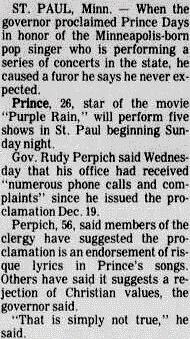 Prince - Christian protest in Minneapolis - The Sedalia Democrat 12/21/1984 (prince.org)