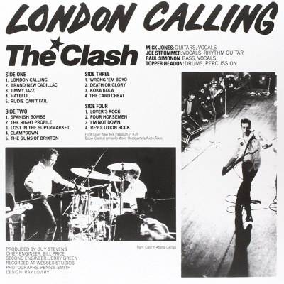 The Clash - London Calling - Hoes achterkant (genius.com)