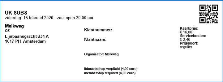 U.K. Subs 15-02-2020 concertkaartje (apoplife.nl)